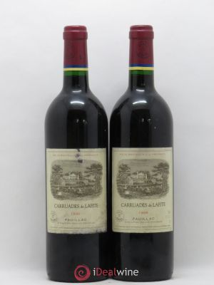 Carruades de Lafite Rothschild Second vin  1996 - Lot de 2 Bouteilles