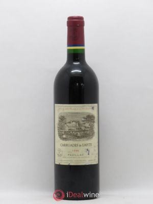 Carruades de Lafite Rothschild Second vin  1996 - Lot de 1 Bouteille