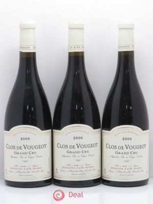 Clos de Vougeot Grand Cru J. et M Simon 2006 - Lot de 3 Bottles