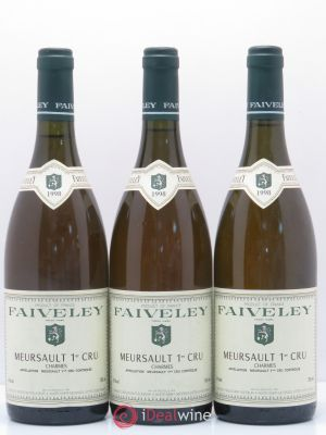 Meursault 1er Cru Charmes Faiveley 1998 - Lot de 3 Bottles