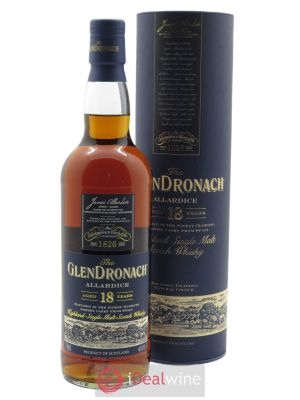 Glendronach Allardice 18 years Of. Single Malt Scotch Whisky (70 cl) ---- - Lot de 1 Bouteille