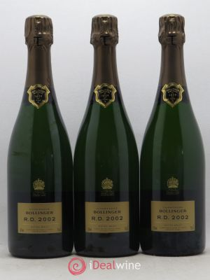 R.D. Bollinger  2002 - Lot de 3 Bottles