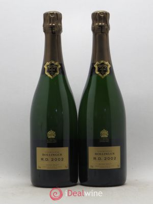 R.D. Bollinger  2002 - Lot de 2 Bottles