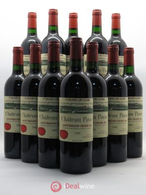 Bottle Château Pavie 1er Grand Cru Classé A  1995 - Lot de 12 Bottles