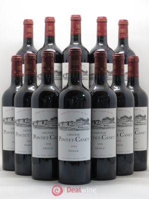 Bottle Château Pontet Canet 5ème Grand Cru Classé  2009 - Lot de 12 Bottles