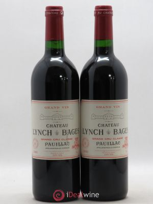 Château Lynch Bages 5ème Grand Cru Classé  2000 - Lot de 2 Bottles