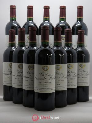 Bottle Château Sociando Mallet  1999 - Lot de 12 Bottles