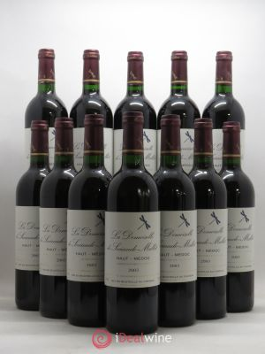 Bottle Demoiselle de Sociando Mallet Second Vin  2003 - Lot de 12 Bottles