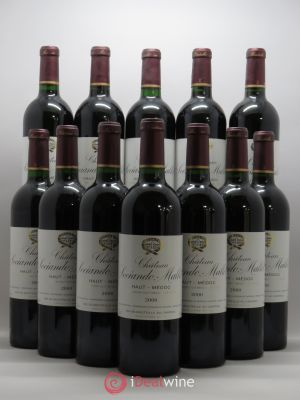 Bottle Château Sociando Mallet  2000 - Lot de 12 Bottles