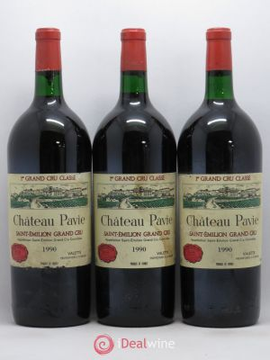 Château Pavie 1er Grand Cru Classé A  1990 - Lot de 3 Magnums