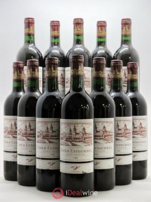 Bottle Cos d'Estournel 2ème Grand Cru Classé  1989 - Lot de 12 Bottles