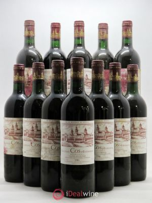 Bottle Cos d'Estournel 2ème Grand Cru Classé  1986 - Lot de 12 Bottles