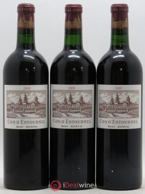 Cos d'Estournel 2ème Grand Cru Classé  2005 - Lot de 3 Bottles