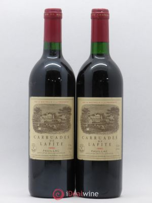 Carruades de Lafite Rothschild Second vin  1990 - Lot de 2 Bouteilles