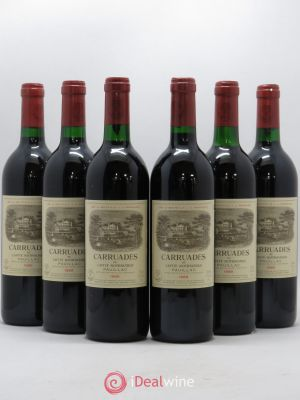 Carruades de Lafite Rothschild Second vin  1989 - Lot de 6 Bouteilles