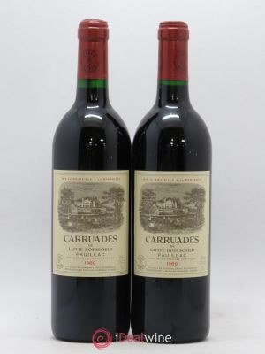 Carruades de Lafite Rothschild Second vin  1989 - Lot de 2 Bouteilles