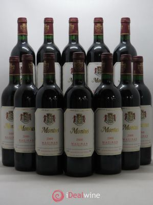 Bottle Madiran Château Montus Alain Brumont  2000 - Lot de 12 Bottles