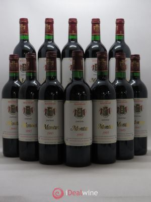 Bottle Madiran Château Montus Alain Brumont  1995 - Lot de 12 Bottles