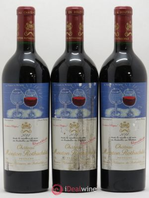 Château Mouton Rothschild 1er Grand Cru Classé  2014 - Lot de 3 Bottles