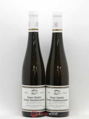 Allemagne Nahe Traiser Rotenfels Riesling Trockenbeerenauslese Weingut Dr. Crusius 2003 - Lot de 2 Bouteilles