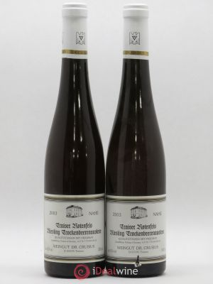 Allemagne Traiser Rotenfels Riesling Trockenbeerenauslese Weingut Dr. Crusius 2003 - Lot de 2 Bouteilles