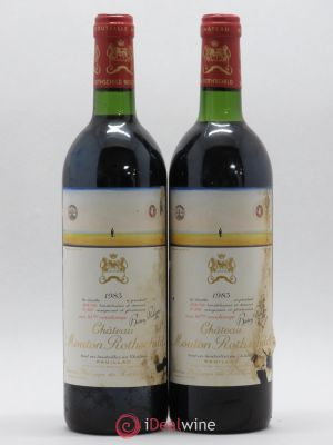 Château Mouton Rothschild 1er Grand Cru Classé  1983 - Lot de 2 Bottles