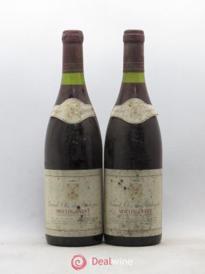 Moulin à Vent Grand Clos de Rochegrès (no reserve) 1990 - Lot de 2 Bottles