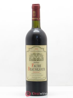 Fronsac Château Fort Beausejour Fronsac (no reserve) 2001