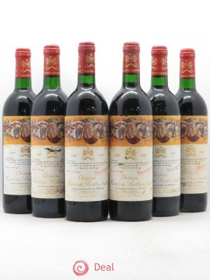 Château Mouton Rothschild 1er Grand Cru Classé  1987 - Lot de 6 Bottles