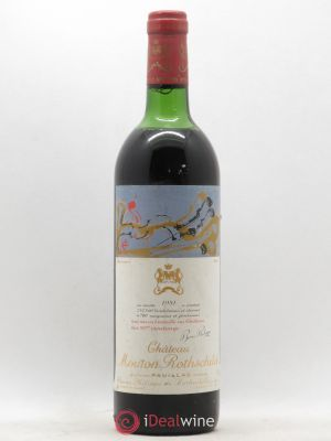 Château Mouton Rothschild 1er Grand Cru Classé  1981 - Lot de 1 Bottle