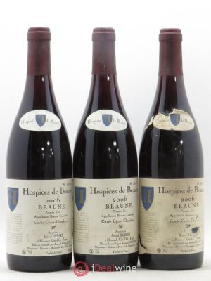 Beaune 1er Cru Hospices De Cuvée Cyrot Chaudron Armand Hubert (no reserve) 2006 - Lot de 3 Bottles