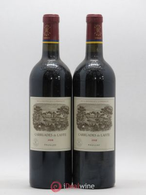 Carruades de Lafite Rothschild Second vin  2008 - Lot de 2 Bouteilles
