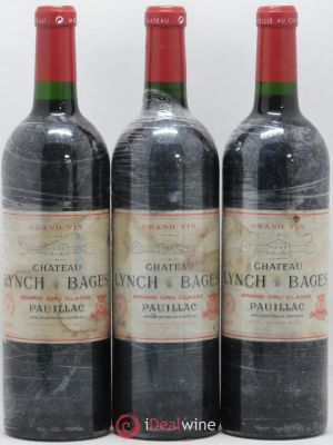 Château Lynch Bages 5ème Grand Cru Classé  2005 - Lot de 3 Bottles