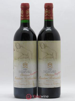 Château Mouton Rothschild 1er Grand Cru Classé  1993 - Lot de 2 Bottles