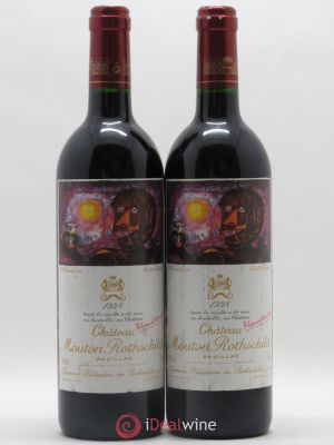 Château Mouton Rothschild 1er Grand Cru Classé  1998 - Lot de 2 Bottles