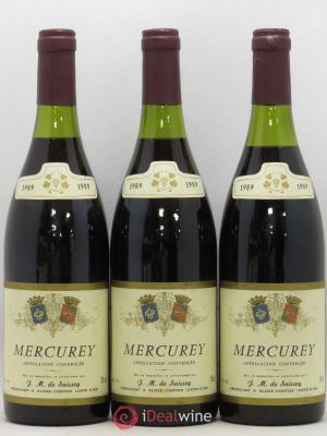 Mercurey De Saissey (no reserve) 1989 - Lot de 3 Bottles