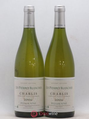 Chablis William Fèvre (Domaine) Les Pierres Blanches Wiliam Fèvre (no reserve) 2006 - Lot de 2 Bottles