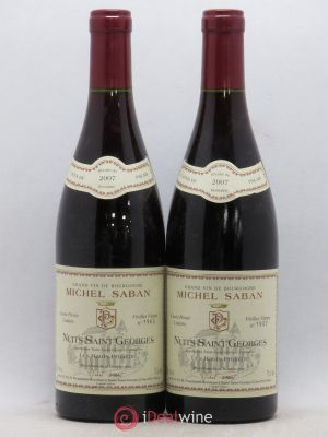 Nuits Saint-Georges Les Hauts Pruliers Michel Saban (no reserve) 2007 - Lot de 2 Bottles