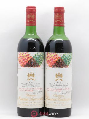 Château Mouton Rothschild 1er Grand Cru Classé  1979 - Lot de 2 Bottles