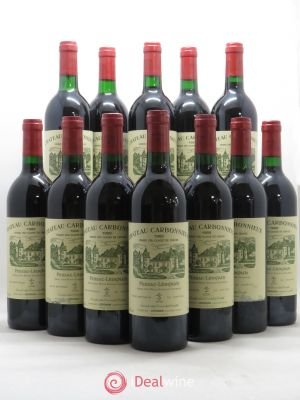 Bottle Château Carbonnieux Cru Classé de Graves  1988 - Lot de 12 Bottles