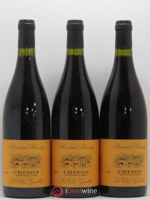 Chinon Le Clos Guillot Bernard Baudry  2009 - Lot de 3 Bottles