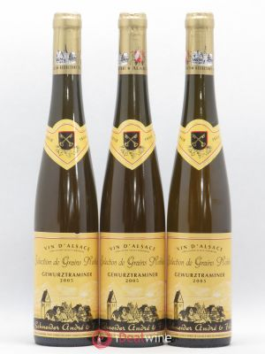 Gewurztraminer Sélection de Grains Nobles Schneider André Eguisheim 2005 - Lot de 3 Bottles
