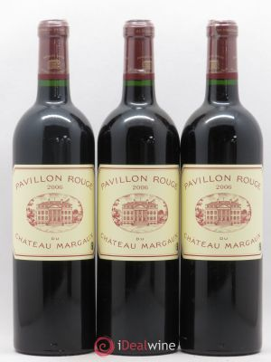 Pavillon Rouge du Château Margaux Second Vin  2006 - Lot de 3 Bottles