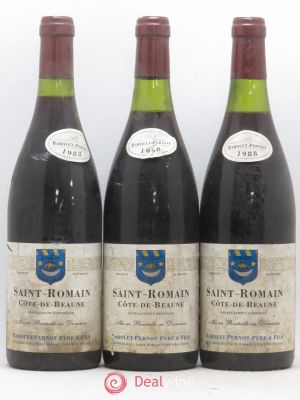 Saint-Romain Barolet Pernot (no reserve) 1988 - Lot de 3 Bottles