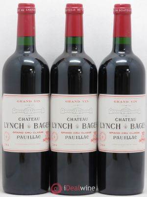 Château Lynch Bages 5ème Grand Cru Classé  2004 - Lot de 3 Bottles