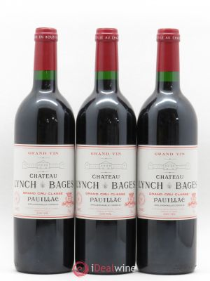 Château Lynch Bages 5ème Grand Cru Classé  2002 - Lot de 3 Bottles
