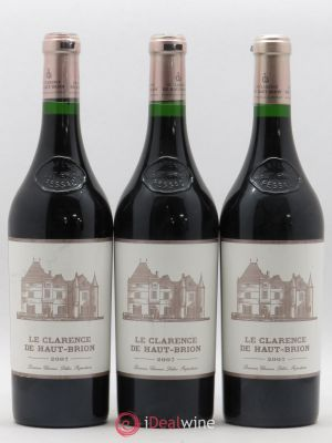Clarence (Bahans) de Haut-Brion Second Vin  2007 - Lot de 3 Bouteilles