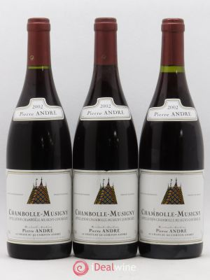 Chambolle-Musigny Pierre André 2002 - Lot de 3 Bottles