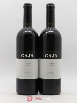 Langhe  Sperss Angelo Gaja  2001 - Lot de 2 Bottles