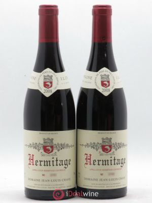 Hermitage Jean-Louis Chave  2008 - Lot de 2 Bottles